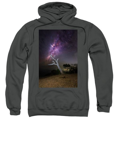 Striking Milkyway Over A Lone Tree Sweatshirt