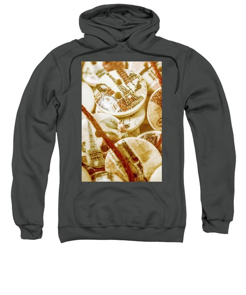 String Of Buttons Sweatshirt