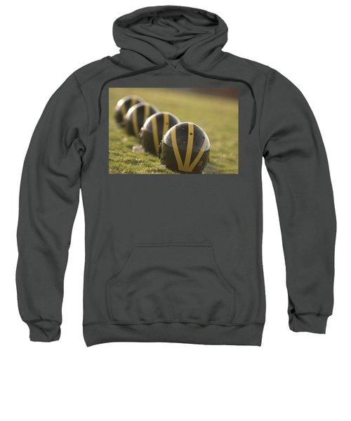 Striped Helmets On Yard Line Sweatshirt
