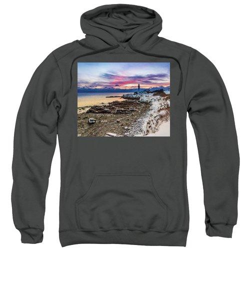 Subtle Sunrise At Portland Head Light Sweatshirt