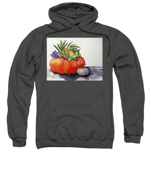 Succulents In Pumpkin Sweatshirt
