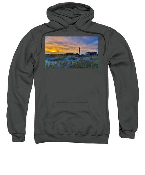 Sullivan's Island Lighthouse At Dusk - Sullivan's Island Sc Sweatshirt