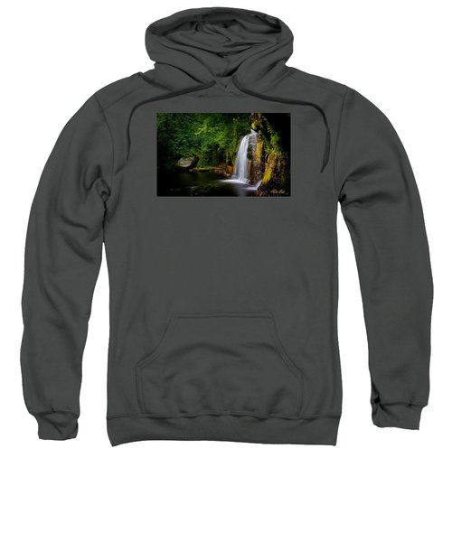 Sweatshirt featuring the photograph Summer At Wolf Creek Falls by Rikk Flohr