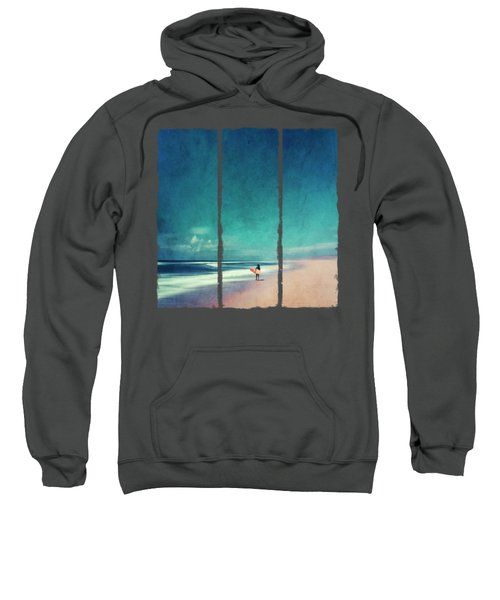 Summer Days - Abstract Seascape With Surfer Sweatshirt