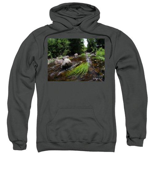 Summer Flow Of Water Near Rangeley Maine  -63322 Sweatshirt