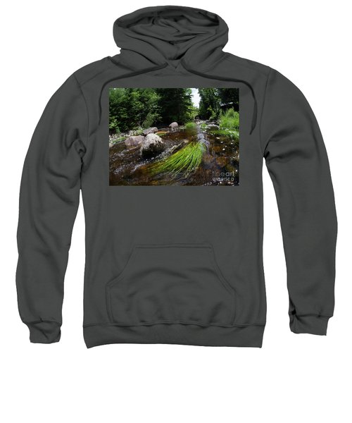 Summer Flow Of Water Near Rangeley Maine  -63322 Sweatshirt