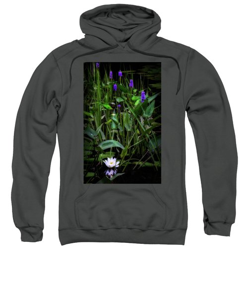 Sweatshirt featuring the photograph Summer Swamp 2017 by Bill Wakeley