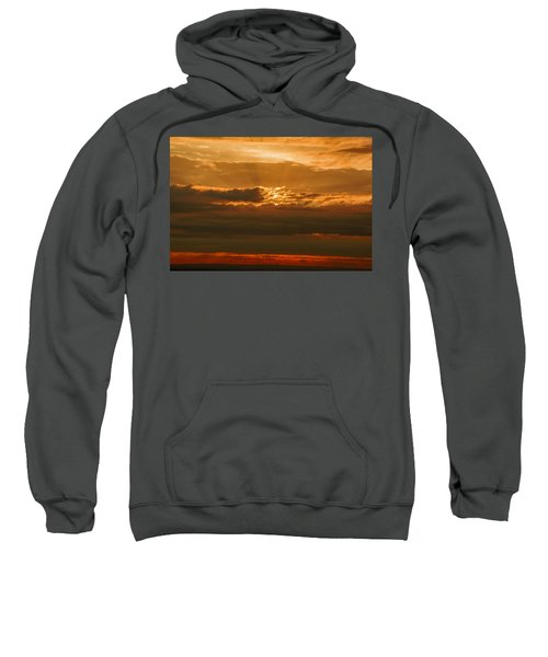 Sun Behind Dark Clouds In Vogelsberg Sweatshirt