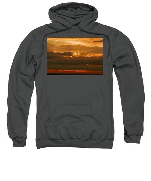 Sun Behind Dark Clouds In Vogelsberg Sweatshirt