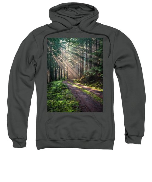 Sunbeam In Trees Portrait Sweatshirt