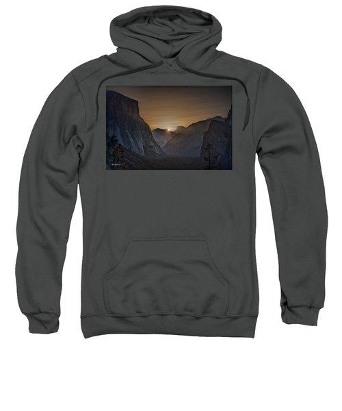 Sunburst Yosemite Sweatshirt by Bill Roberts