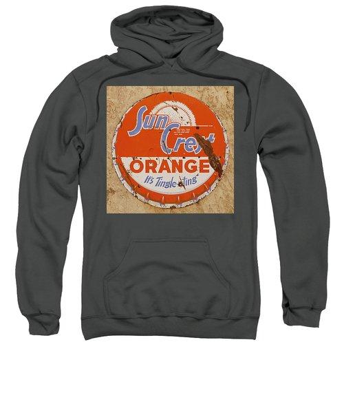 Suncrest Orange Soda Cap Sign Sweatshirt