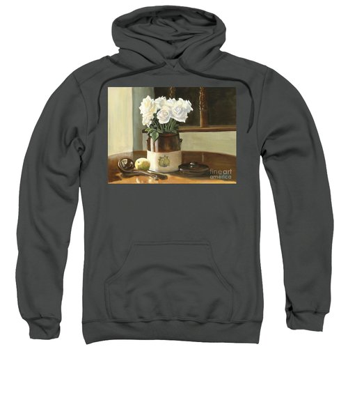Sunday Morning And Roses - Study Sweatshirt