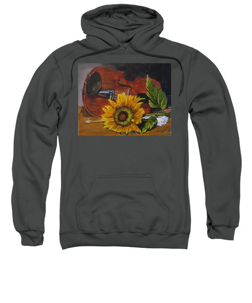 Sunflower And Violin Sweatshirt