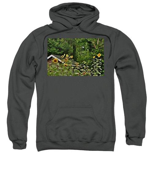 Sunflowers At The Good Earth Market Sweatshirt