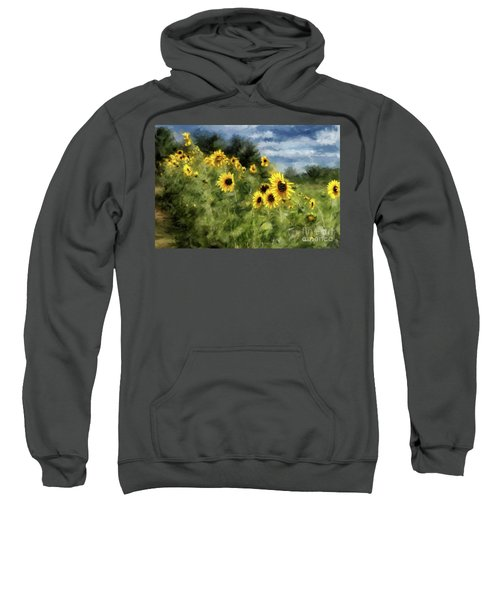 Sunflowers Bowing And Waving Sweatshirt