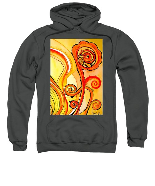 Sweatshirt featuring the painting Sunny Flower - Art By Dora Hathazi Mendes by Dora Hathazi Mendes