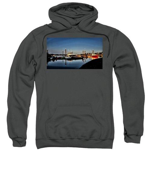 Sunny Morning At Onset Pier Sweatshirt