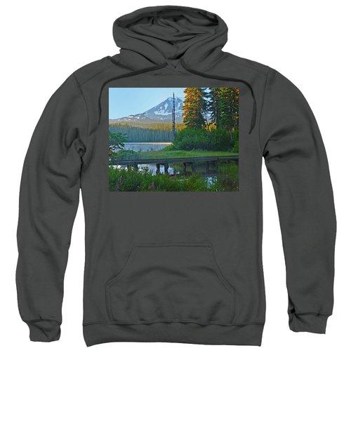 Sunrise At Takhlakh Lake Under Mt Adams Sweatshirt
