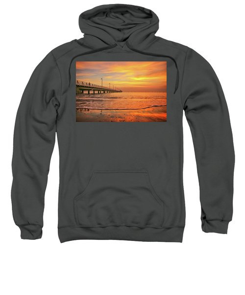 Sunrise Delight On The Beach At Shorncliffe Sweatshirt
