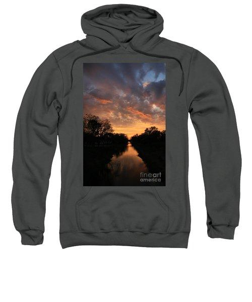 Sunrise On The Illinois Michigan Canal Sweatshirt