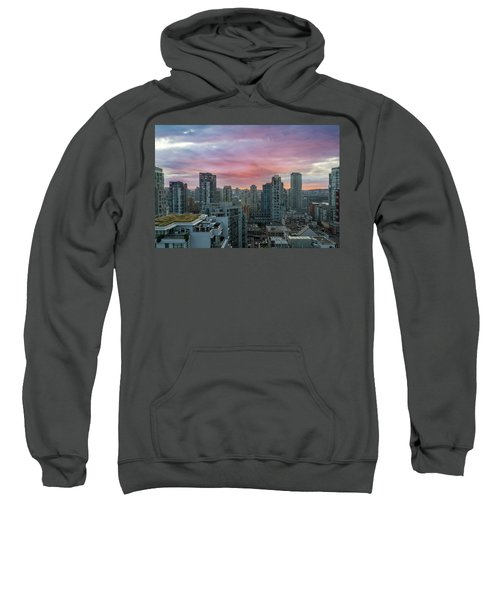 Sunrise Over Downtown Vancouver Bc Sweatshirt