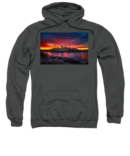Sunrise Over Nubble Light Sweatshirt