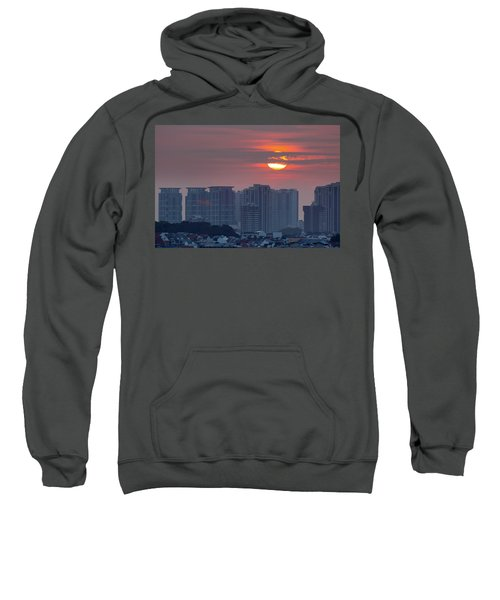 Sunrise Over Singapore Residential Neighborhood Sweatshirt