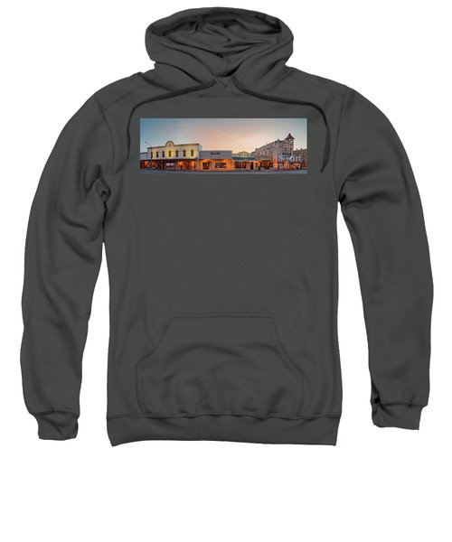 Sunrise Panorama Of Downtown Fredericksburg Historic District - Gillespie County Texas Hill Country Sweatshirt