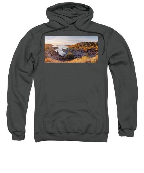 Sunrise Panorama Of Lake Pleasant In Peoria Arizona Sweatshirt