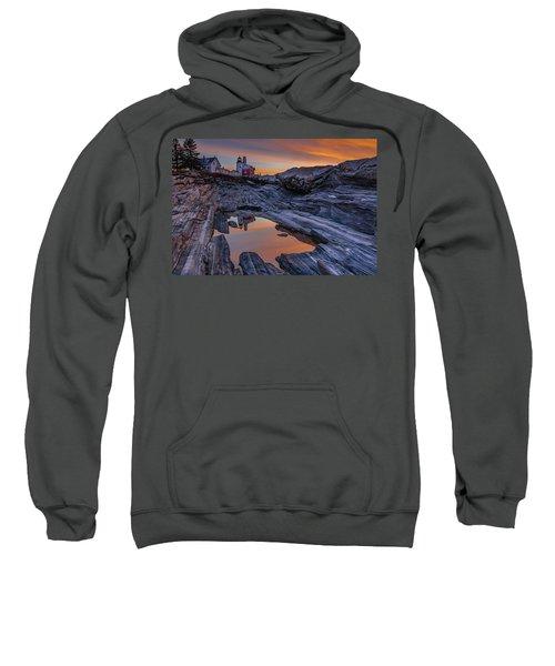 Sunrise Reflections At Pemaquid Point Sweatshirt