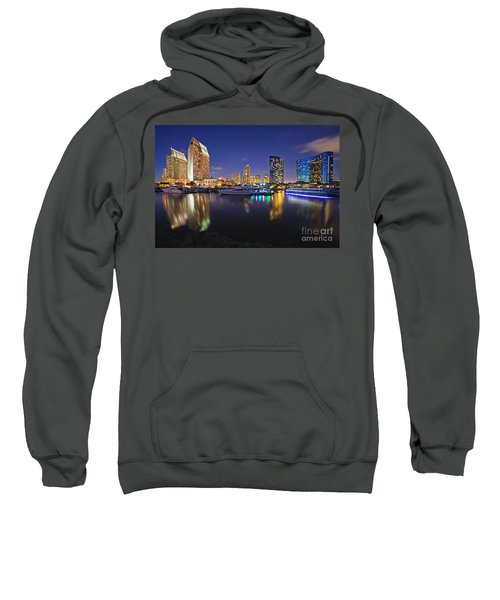 Sunset At Embarcadero Marina Park In San Diego Sweatshirt