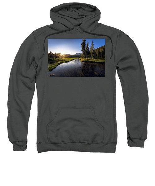 Sunset At Kings Creek In Lassen Volcanic National Sweatshirt