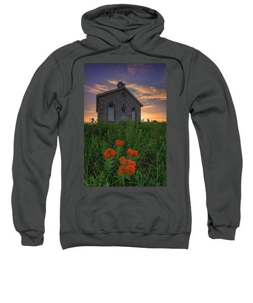 Sunset At Lower Fox Creek Schoolhouse Sweatshirt
