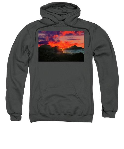 Sunset At Oregon Beach Sweatshirt