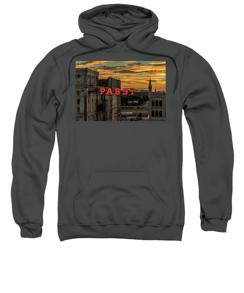 Sunset At The Brewery Sweatshirt by Randy Scherkenbach