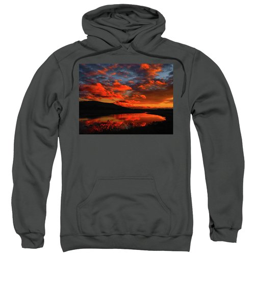 Sunset At Wallkill River National Wildlife Refuge Sweatshirt