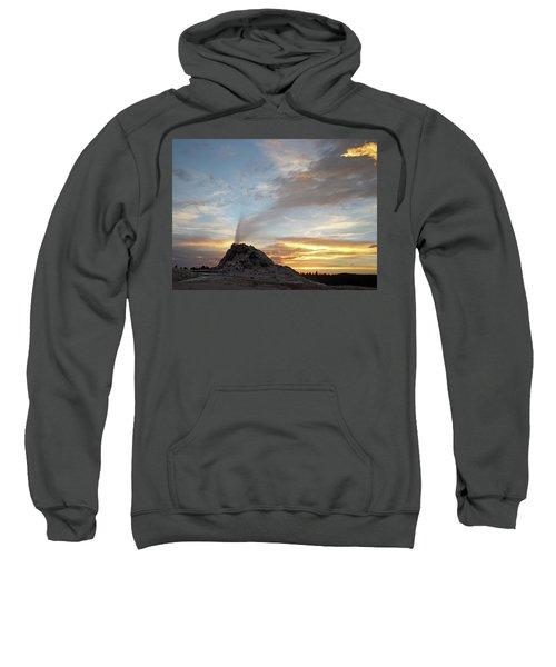 Sunset At White Dome Geyser Sweatshirt