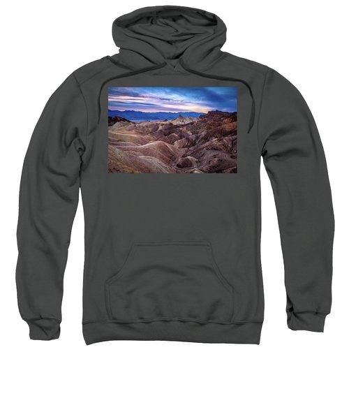 Sunset At Zabriskie Point In Death Valley National Park Sweatshirt