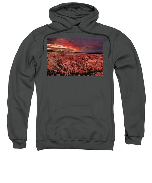 Sunset Clouds Over Bryce Canyon Sweatshirt