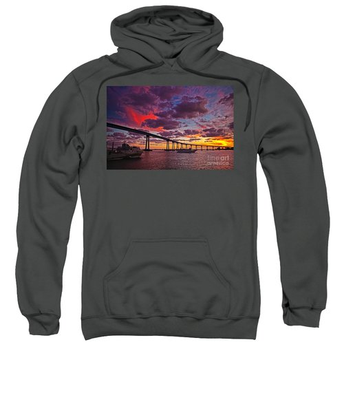 Sunset Crossing At The Coronado Bridge Sweatshirt