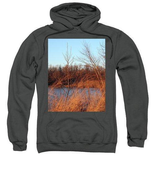 Sunset Field Over Water Sweatshirt