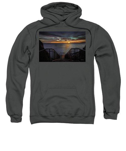 Sunset From Sandpiper Staircase Sweatshirt