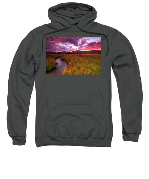 Sunset In The North Fields. Sweatshirt