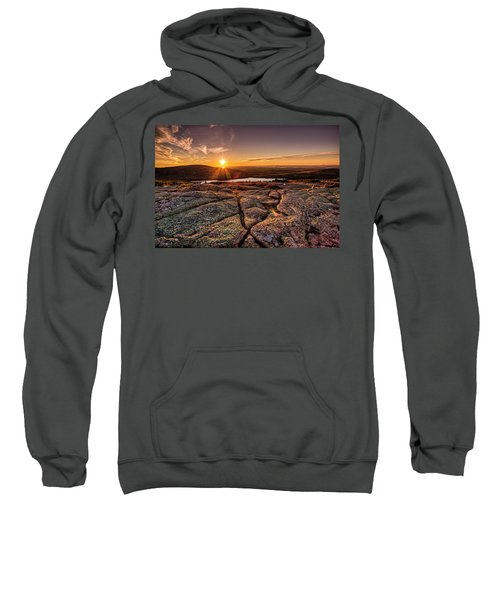 Sunset On Cadillac Mountain Sweatshirt