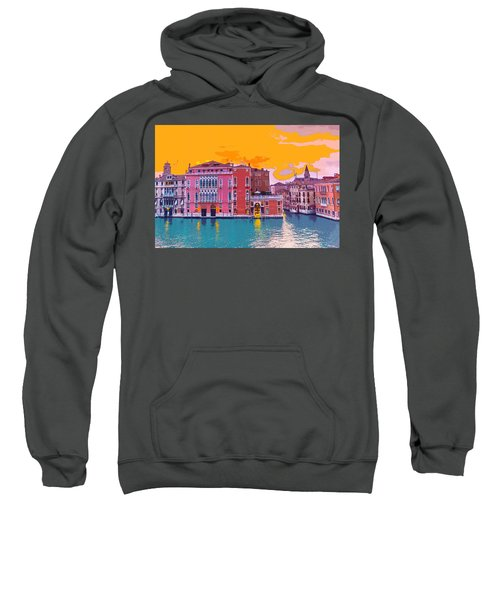 Sunset On The Grand Canal Venice Sweatshirt