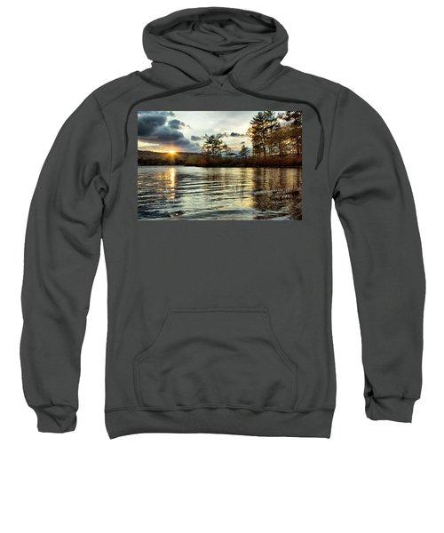 Sunset On Webster Lake  Sweatshirt