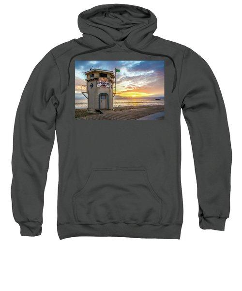 Sunset Over Laguna Beach Lifeguard Station Sweatshirt