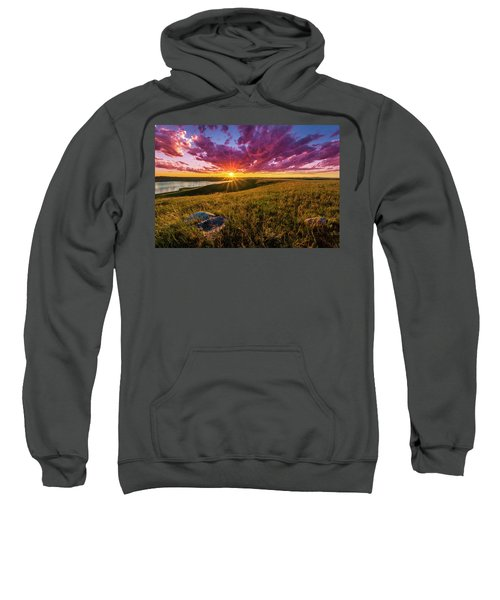 Sunset Over Lake Oahe Sweatshirt
