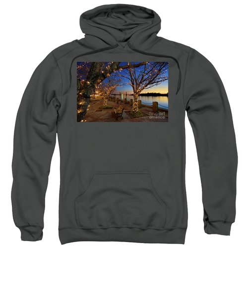 Sunset Over The Wilmington Waterfront In North Carolina, Usa Sweatshirt